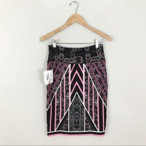 Lularoe small NWT Cassie Skirt Elegant Black Pink